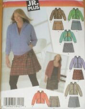 "4893 SIMPLICITY Teen  HOODIE JACKET SKIRT Junior 40""-45"" Plus Size 13/14 - 21/22"