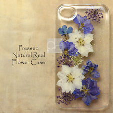 FGW Glitter Pressed Real Dry Flower Hand Craft Floral Bling Hard Skin Case Cover