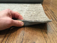 H Plus Non Slip Shaw Recycled Fiber Rug Pad Felt and Rubber for Hard Floors