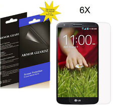 6X Armor GuardZ HD Clear LCD Screen Protector Shield Guard Cover Film For LG G2