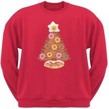 Breakfast Bacon And Eggs Christmas Tree Red Adult Crew Neck Sweatshirt