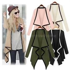 Women's Cape Poncho Tops Cardigan Lady Long Sleeve Blouse Coat Sweater Outwear