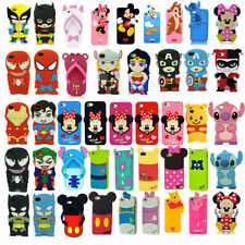 Cartoon Soft Silicone Rubber Case Cover For Apple iphone & Samsung Galaxy  XU