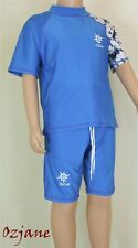 BOYS OZCOZ UV UPV SPF 50+ SUN PROTECTION SUIT BLUE 8 TO 16 YR SWIMMING COSTUME