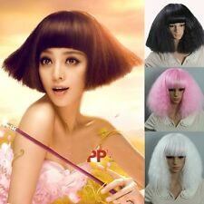 Medium Long Rhapsody Cool Full Wigs Curly Wavy Hair Cosplay Party Costume Colors
