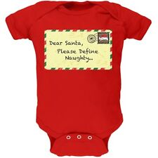 Dear Santa Please Define Naughty Red Newborn Infant One Piece Onesie