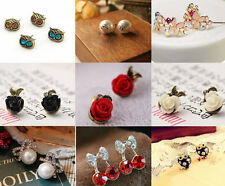 new Fashion  Spark Girls Hot Cute Sweet Crystal Pearl Earring Ear Stud  Gift 100