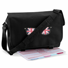 UNION JACK FLAG SPECS ENGLAND SOUVENIR MESSENGER LAPTOP PRINTED BAG 21 COLOURS