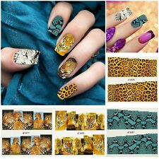 Chic Water Transfer Tips Full Wrap Sticker Leopard Animal Print Nail Art Decal