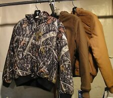 DICKIES Boys KJ101 Sanded Duck Hooded Jacket BROWN & CAMO S, M, L, XL  NWT