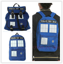 NEW Fashion Doctor Who Blue Tardis Police Box NWT Knapsack /Bag /Backpack
