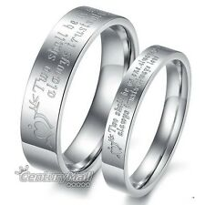 Titanium Rings Stainless Steel Love Engagement Wedding Set Band Matching DF1003