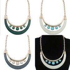 Generous Style Crescent Double-deck Collar Chain Women Jewelry Necklace
