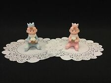 Cold Porcelain Little King/Queen Cake Topper Favor Decoration Cupcake Topper