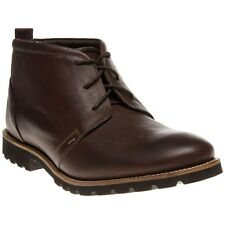 New Mens Rockport Brown Charson Leather Boots Chukka Lace Up