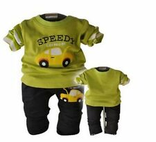 2014 spring  Autumn Baby Boys Long Sleeve T-shirt+ trousers Outfit Fit 7-24M