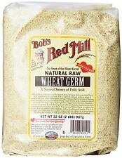 Bob's Red Mill Natural Raw Wheat Germ 32 oz 2 LBS (907 g)  Pack of 1 / 2 / 3 / 4
