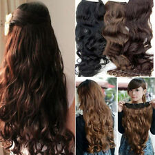One Piece Clip in Synthetic Human Hair Extensions Long Wavy Curly Hair