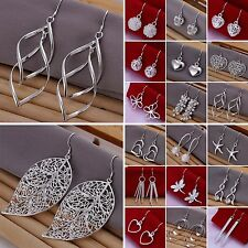 Women's Fashion Jewelry 925 Sterling silver SP vintage dangle earrings