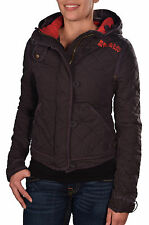 Superdry Women's Mini Quilted Hooded Jacket-Faded Black