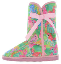 Iron Fist My Little Pony Characters All Over Print NWT Fugly Fug Boot - Pink