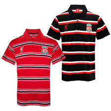 Liverpool FC Official Football Gift Mens Striped Polo Shirt