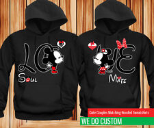 LOVE Cartoon Kissing - Awesome Couples Matching Hoodies SET OF 2 HOODIES