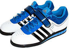 Adidas Powerlift 2 White/Royal Weightlifting Shoes B39760 Sz 7-13