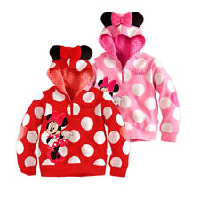 New Baby Girls Kids Cartoon Minnie Mouse Dot Ear Hoodie Tops Coat Jacket 1~6Y