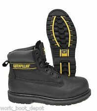CAT BOOTS CATERPILLAR HOLTON STEEL TOE BLACK LEATHER WORK BOOT P89704