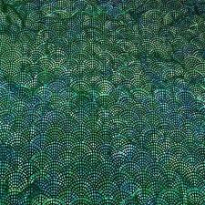 Bali Batik, Overlapping Scallops, Forest Green & Black Cotton Fabric by Hoffman