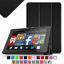 Leather Case Cover For Amazon Kindle Fire HD 7 4th Gen (2014 Oct Model) Stand