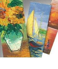 HAND PAINTED BOOKMARKS Individually Painted using Oil on Canvas, Various Designs