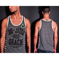 Roots of Fight Gracie 1952 Striped Tank Top - Gray