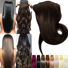 Real Clip In Remy Real Human Hair Extensions Thick Double Weft Full Head US Hot!