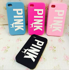 PINK Victorias Secret Dog soft silicone phone case covers For iphone 4 5 5s /6