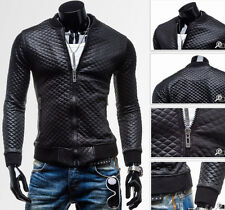 Korean Fashion Men PU Leather Jacket Outwear Slim Fit Coats Winter Casual Blazer