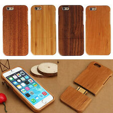 Genuine Real Natural Wood Bamboo Wooden Hard Case Cover For Apple iPhone 6 4.7""