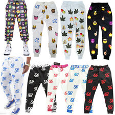 Women Men 3D EMOJI Print Fashion Sweatpants JOGGER Pants Thicken Emoticon Slacks