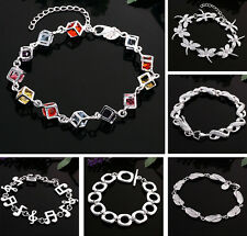 Free Shipping Wholesale Fashion Jewelry 925 Sterling Silver SP Bracelet