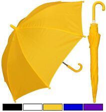 "Lot of 12 New RainStoppers 32"" Children Kid Solid Color Umbrella-Free Shipping"
