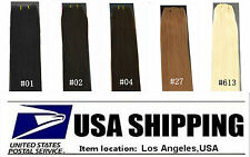 """US STOCK 30cm Wide 22""""Long 30g Remy 100% Real Human Hair Weft/Extensions 5colors"""