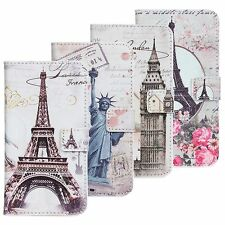Landscape Painting Wallet PU Leather  Case Cover For Various Mobile Phones