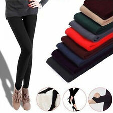 Women Warm Winter Thick Footless  Skinny Slim Leggings Stretch Pants M2