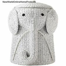 Cute Elephant Laundry Storage Hamper Makes Cleanup Fun Baby Clothes Basket Bin