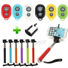 Monopod Selfie Stick Camera+Bluetooth Shutter+Telecomando+Holder Per Iphone HTC