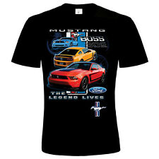 FORD MUSTANG BOSS THE LEGEND  LICENSEND  emo mens T SHIRT ref 17952 new 2015