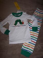 NWT Gymboree ERIC CARLE Hungry Caterpillar Pajamas Gymmies PJ's Size 2T 4 or 6