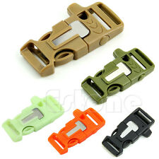 1PC Side Release Whistle Buckle Flint Fire Starter Escaper For Paracord Bracelet