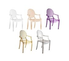 Ghost style Clear Chair Transparent Clear Red Purple Orange Smoked dining chairs